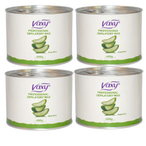 High Performance, Professional Grade Creamy Aloe Vera Wax Cream Salon Face Body Leg Hair Removal 4X 400g