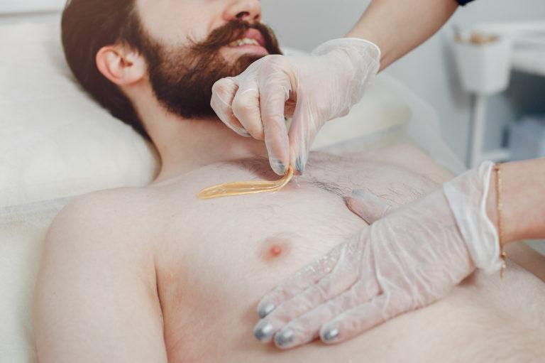 man waxing