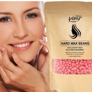 Vaxy Stripless Pearl Hard Film Wax Waxing Beads  500g Rose