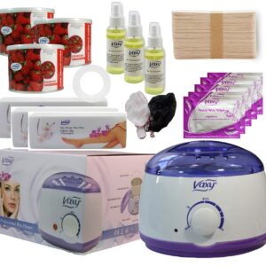 Wax Warmer, Hair Removal Waxing Kit, Electric Pot Heater Melts with Accessories